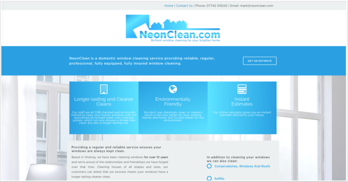 NeonClean Woking based-professional-domestic-window-cleaning-service