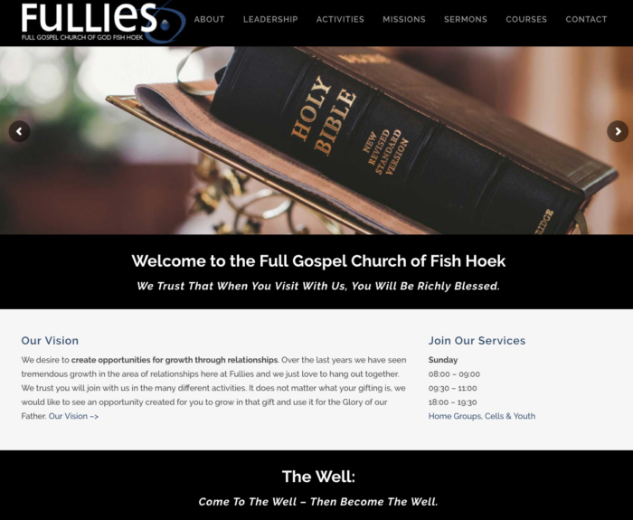 Fullies WordPress website