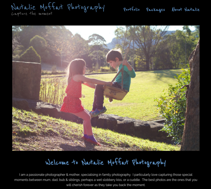 Natalie Moffat Photography WordPress Website