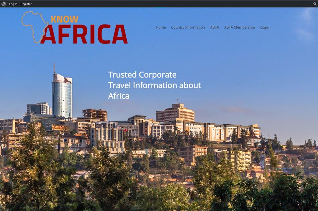 Know Africa Travel Wordpress website