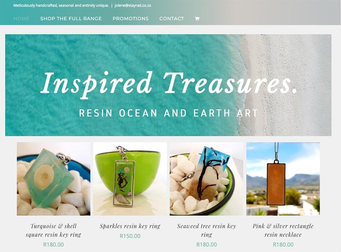 Inspired-Treasures- ecommerce WordPress website
