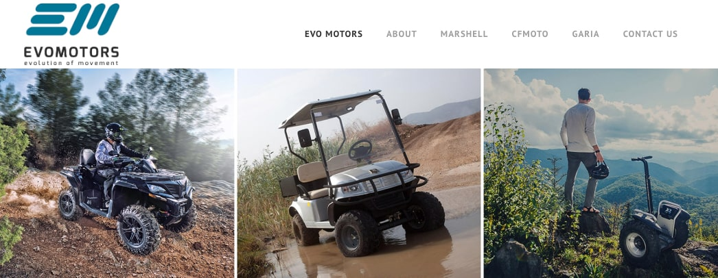 evomotors wordpress website
