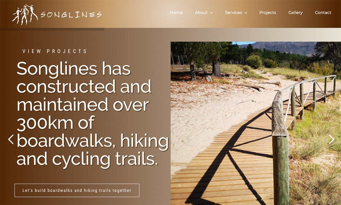 Songlines - wordpress website